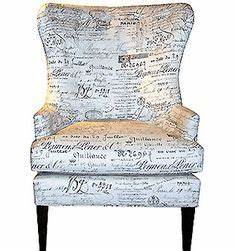 i want this victoria grayson39s chair from tv show With document fabric chair