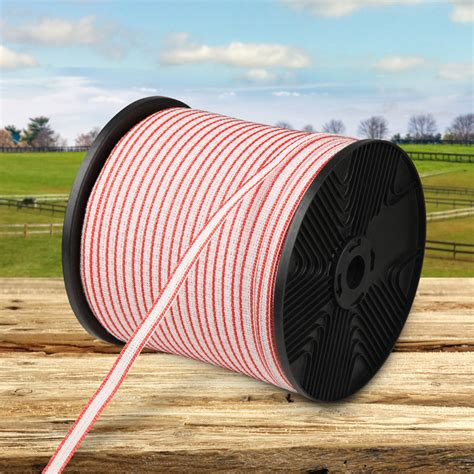 Where possible it is important to use electric fence. Giantz 400m Stainless Steel Poly Tape Insulator | Buy Electric Fence Supplies - 9350062018415