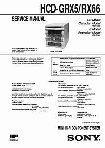 Sony Mhc-grx5  Mhc-rx66  Ss-j50 Service Manual