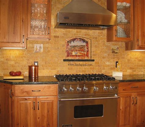 tile kitchen backsplash photos vineyard view kitchen tile backsplash with grapes vines