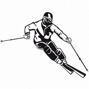 Skifahrer Wandtattoo