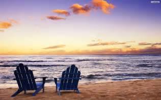Aloha Beach Chairs by Youwall Calm Beach Wallpaper Wallpaper Wallpapers Free