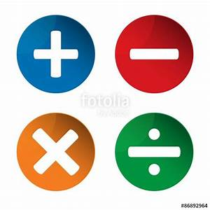 """Mathematics signs. Add icon. Minus icon. Multiply icon ..."