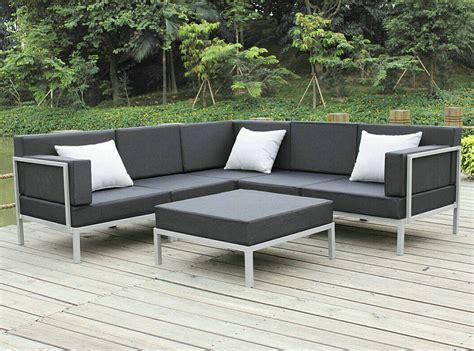 metal outdoor sectional china casual selectional metal sofa set aluminum outdoor