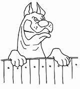 Fence Latindo Coloring Cachorro Bravo Desenho Cerca Cane Tudodesenhos Colorir Animali Disegno Dog Fierce Imprimir Condividi sketch template