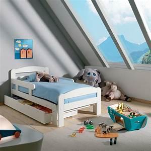 Cocktail Scandinave Lit : lit ekla en bois blanc extensible un lit qui grandit avec ~ Melissatoandfro.com Idées de Décoration