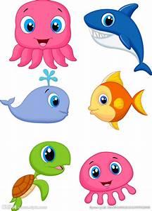 卡通海洋生物设计图__海洋生物_生物世界_设计图库_昵图网nipic.com