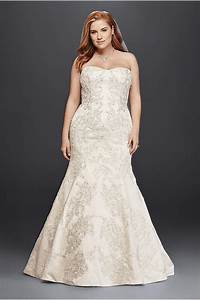 plus size trumpet wedding dress with visible seams david With satin trumpet wedding dress