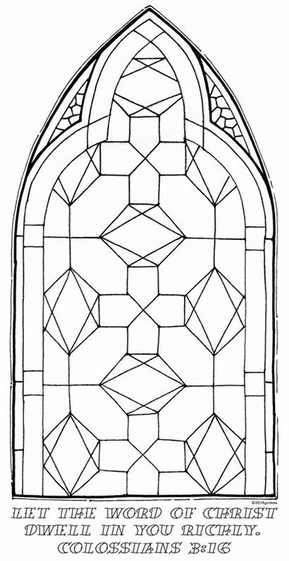Stained Coloring Glass Pages Geometric Colossians Dwell