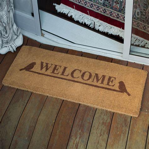 Photo Doormat by 45x120cm Welcome 100 Coir Door Mat Fab Door Mats