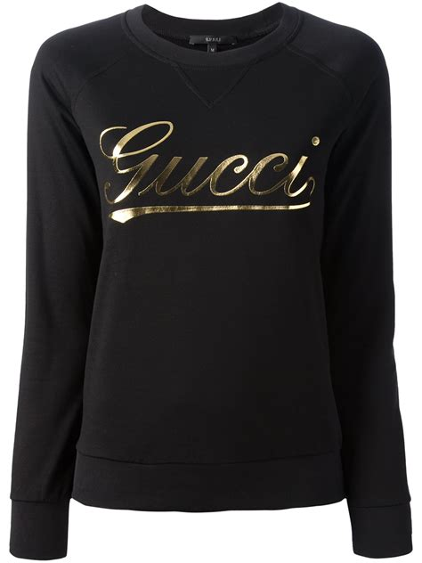 gucci brand print sweater  black lyst