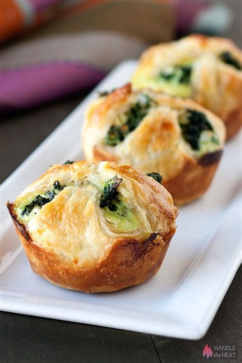 Puff Pastry Appetizers with Spinach