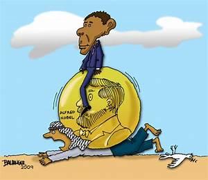 Obama - His Nobel Prize By dbaldinger   Politics Cartoon ...