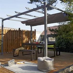 Tonnelle Terrasse : tonnelle autoportante niagara aluminium gris anthracite ~ Melissatoandfro.com Idées de Décoration