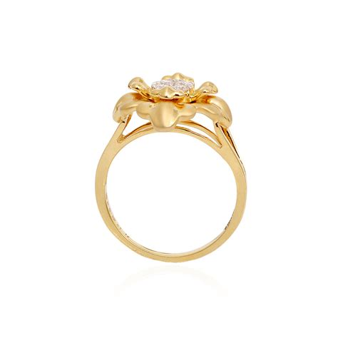 rings classic diamond ring  floral design grt