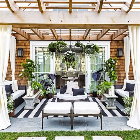 black and white outdoor space by caleb design