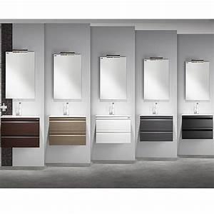 Meuble Vasque 60 : meuble salle de bain solco 60x46x46 2 tiroirs et vasque valenzuela ~ Teatrodelosmanantiales.com Idées de Décoration