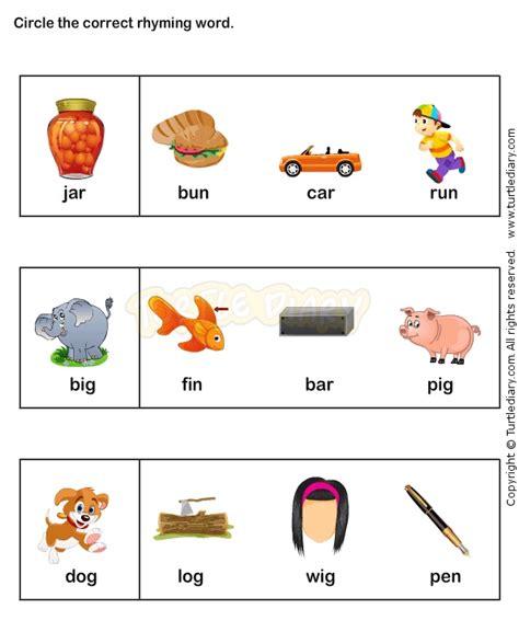 rhyme time worksheets kindergarten esl efl pre k
