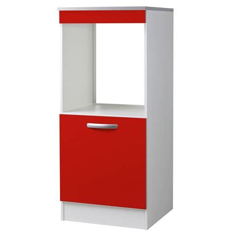 Ikea Meuble Four Haut by Meuble De Cuisine 1 2 Colonne 1 Porte Rouge H140 4x L60x