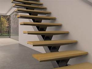 Escalier En Colimaçon Pas Cher : acheter un escalier m tallique limon central stairkaze ~ Premium-room.com Idées de Décoration