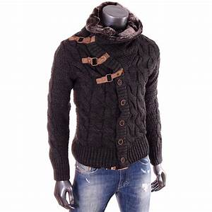 Veste En Laine Homme : gros pull laine homme laine et tricot ~ Carolinahurricanesstore.com Idées de Décoration