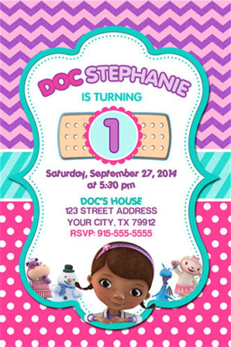 Party Invitation Template Doc Mcstuffins Party Invitations