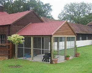 build or buy an outdoor dog kennel that is attached to With outdoor dog kennel attached to house