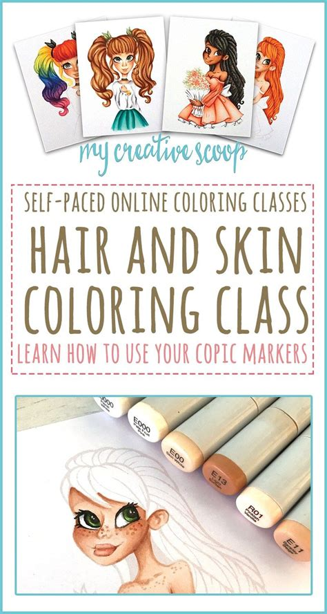 Coloring Using Copic Markers by Hair And Skin Coloring Class Copic Markers