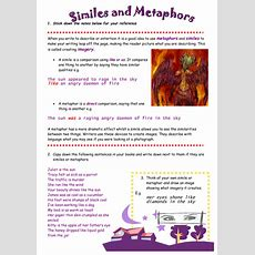 Similes And Metaphors By Maz1  Teaching Resources