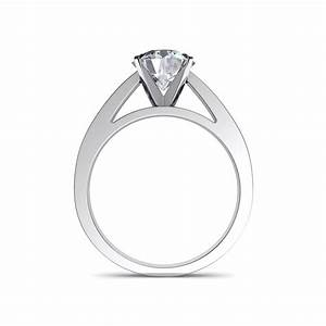 flat edge round cut solitaire engagement ring With flat wedding rings with diamonds
