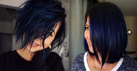 23 Beautiful Blue Black Hair Color Ideas To Copy Hairs