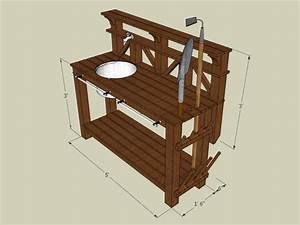 How to Make a Gardener's Potting Bench how-tos DIY