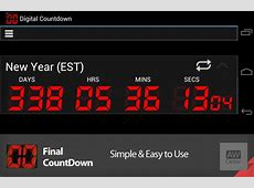 Final Countdown Android Countdown Timer Widget & App AW