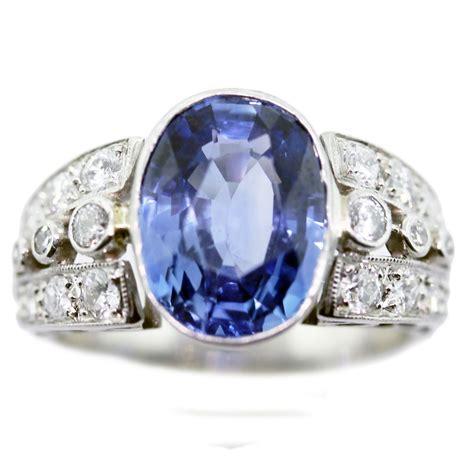vintage sapphire diamond  platinum ring boca raton
