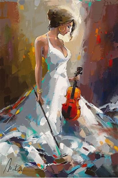 Painting Acrylic Easy Anatoly Metlan Paintings Romantic