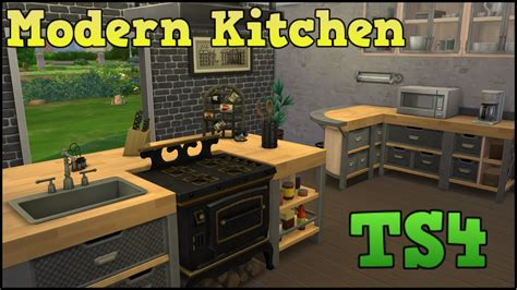 sims  styled rooms modern kitchen youtube