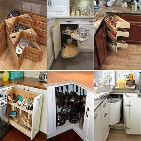 kitchen corner storage ideas clever kitchen corner cabinet storage and organization ideas 6622