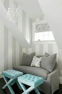 Graue Tapete Schlafzimmer : die besten 25 wandgestaltung streifen ideen auf pinterest ~ Michelbontemps.com Haus und Dekorationen