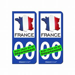 Plaque Immatriculation France : plaque d 39 immatriculation et sticker 00 france carte ~ Medecine-chirurgie-esthetiques.com Avis de Voitures