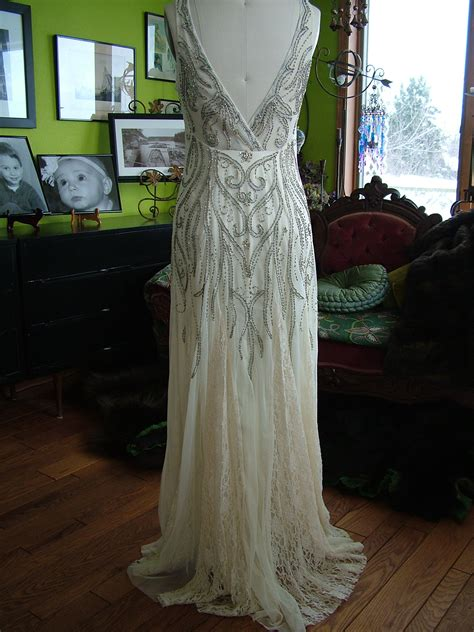 beaded deco vines  style wedding dress  tres