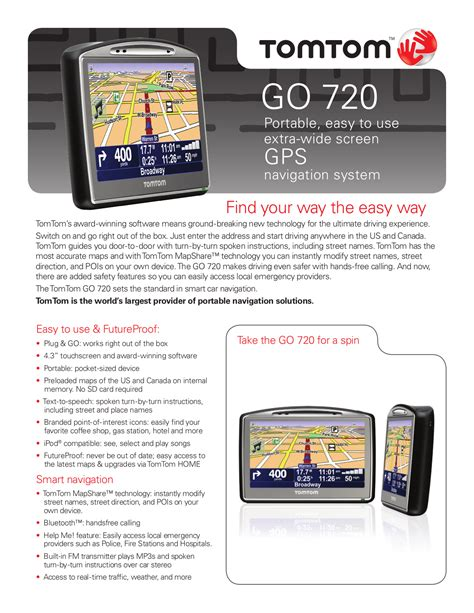 descargar manual tomtom go 720 instructions