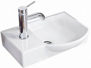 Aufsatzwaschbecken Gäste Wc Klein : fackelmann g ste wc waschtisch aus keramik rechts farbe wei 45 c ~ Indierocktalk.com Haus und Dekorationen