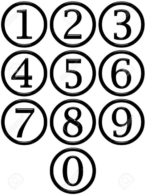 numbers black and white number clip black and white clipart panda free