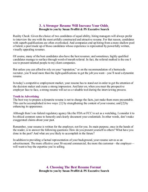 False Resume Consequences by Career Development Reports 9 9 08 Pses