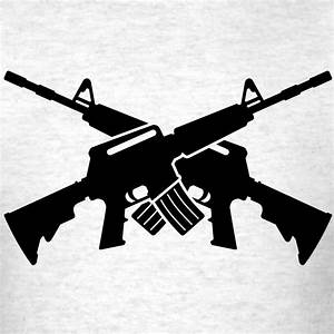 crossed rifles silhouette clipart - Clipground