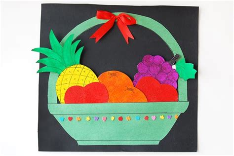 basket  flowers kids crafts fun craft ideas