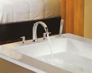 3 Handle Tub Shower Faucet Brushed Nickel by Roman Tub Faucets Bathroom Faucets Bath At The Home Depot