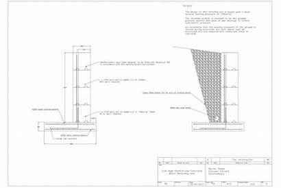 Wall Retaining Construction Drawing Structural Solutions Build