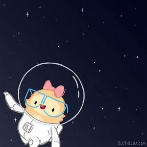 animation cute science cartoon space kawaii adorable stars ...