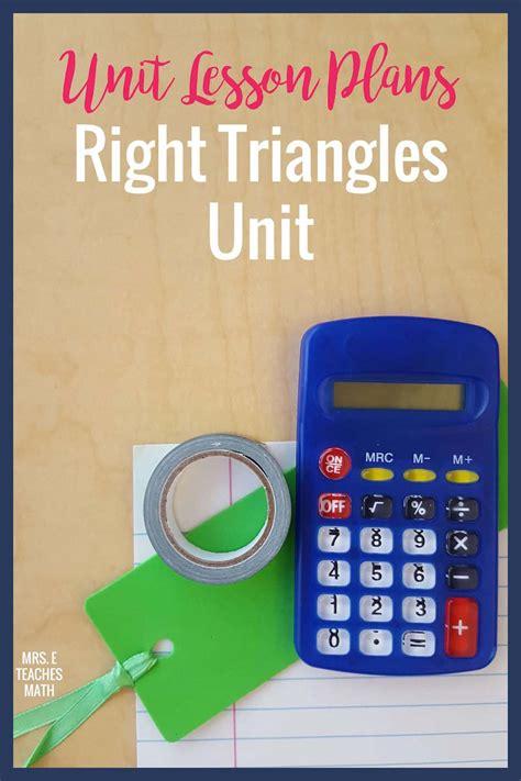 Solving triangles w/ sine, cosine, & tangent. Right Triangles Unit   Mrs. E Teaches Math
